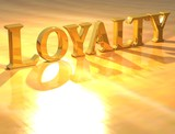3D Loyality Gold text poster