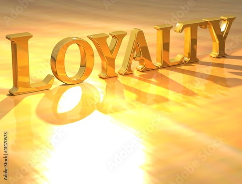 3D Loyality Gold text
