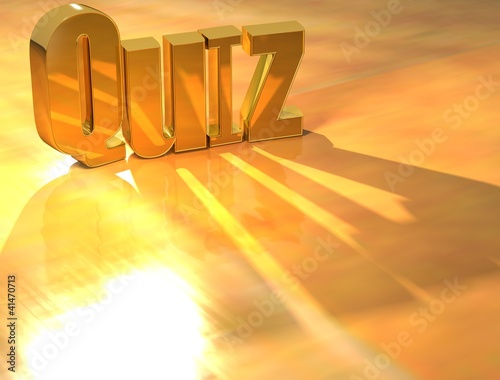 3D Quiz Gold text