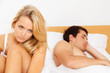 Paar hat Probleme und Krise. Scheidung und Trennun