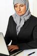 Symbolfoto Islam. Muslimische, Frau mit Kopftuch i