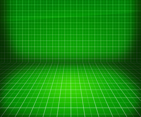 Green Blueprint Stage Background