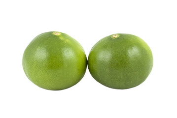 Limes isolated on white