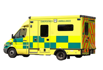 Emergency Ambulance isolated on white