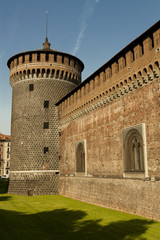Castello Sforzesco's walls