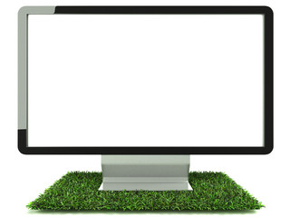 Monitor on grass front view