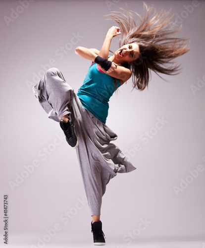 headbanging woman dancer screaming