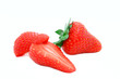 fresh strawberries isolated on withe
