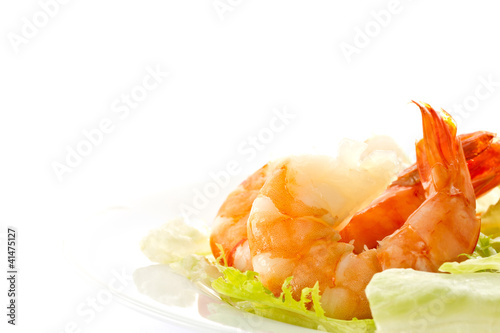 salad with shrimp