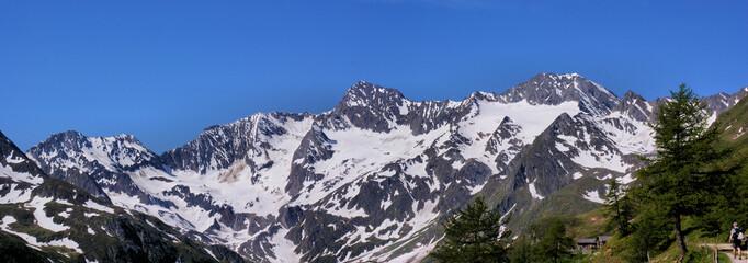 Alm mit Oetztaler Alpen