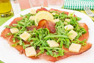 bresaola, rucola e parmigiano