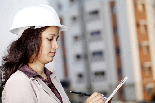 Woman construction engineer