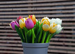 wooden tulips as decoration