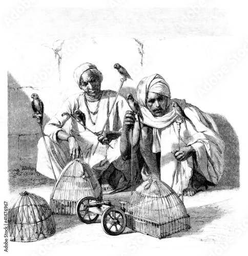 1001  Nights - Men showing Birds