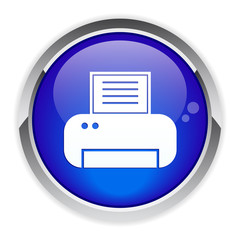 button Internet print icon.
