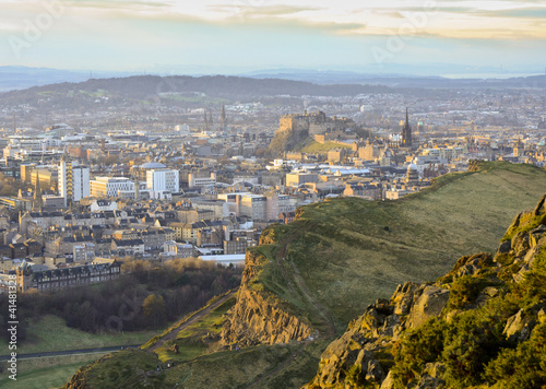 Edinburgh cityscape from Arthur's Seat