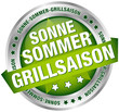 "Button Banner ""Sonne-Sommer-Grillsaison"" grün/silber"