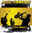 Jazz concert free beer wallpaper