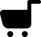 Vector shopping trolley icon
