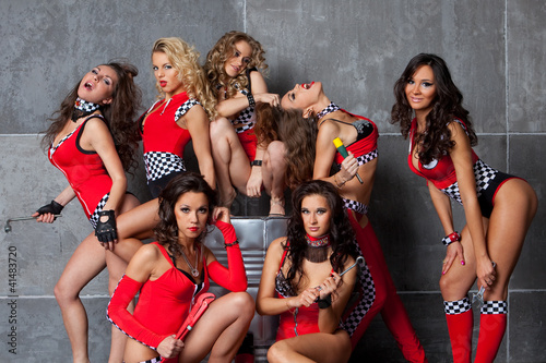 Sexy girls racing team