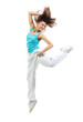 modern slim hip-hop style woman dancer dancing