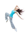 Teenage girl dancer dancing hip-hop
