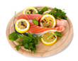 Red fish with lemon and parsley