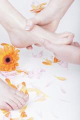 kosmetische Fußpflege mit Fußmassage