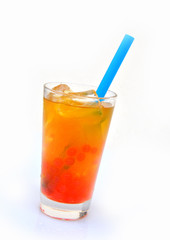 Bubble Tea fruchtig  - Mango, Orange, Maracuja, Limette