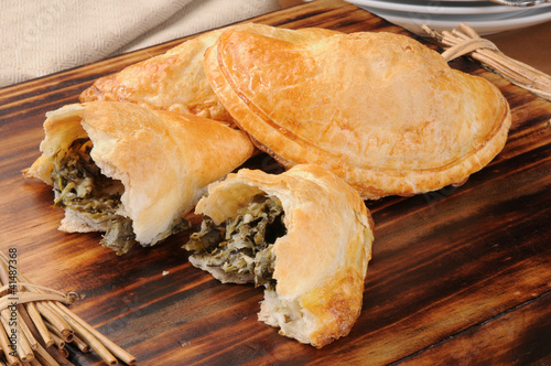 Spinach and feta cheese empanadas