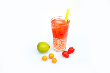 Bubble Tea fruchtig  - Erdbeere, Mango, Orange, Maracuja