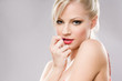 Sensual young blond woman.