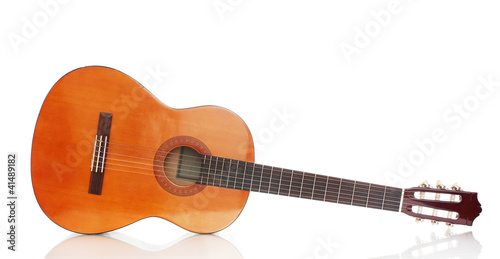 retro guitar isolated on white