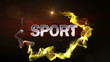Two Sport Text in Particle - HD1080