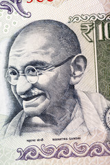 Gandhi image on hundread Rupee note