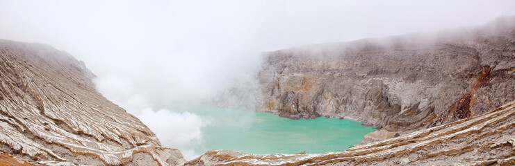 Panorama Khava Ijen Indonesia.