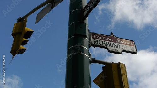 Fashion District Street Sign Traffic Light LS