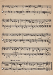 Old vintage sheet music