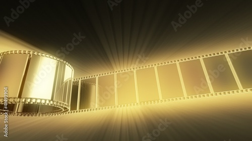 3D animation - abstract film strip with effects