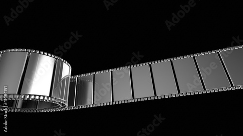 3D animation - abstract film strip.