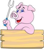 Fototapety Pig chef