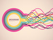 Colorful background with abstract ribbons. Vector illustration.