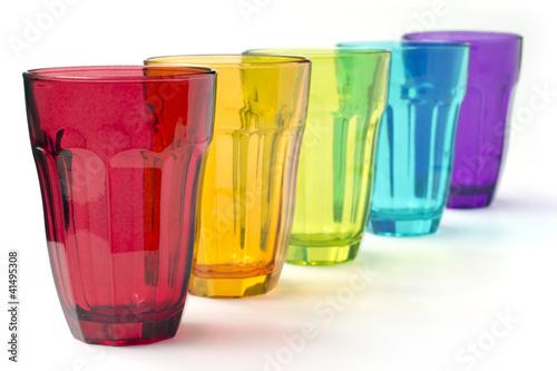 Bicchieri colorati di paulista foto stock royalty free for Bicchieri colorati