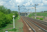 Railway prospect in May under the thunderclouds