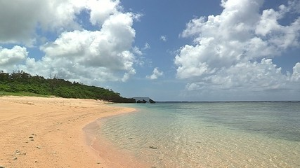 Summer Beach and Horizontal line in Iriomote island,Okinawa