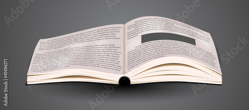 Vector Open book.  blank business textbook. design