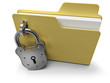 Private folder icon with security padlock, on white background