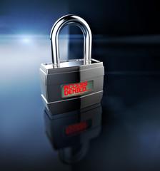 Access Denied padlock, security concept