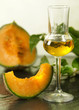 melon grappa with fruit