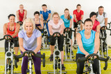 Fotoroleta Spinning class at the gym